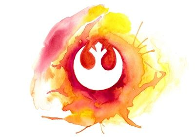 Star Wars Rebel Alliance Watercolor Art Print