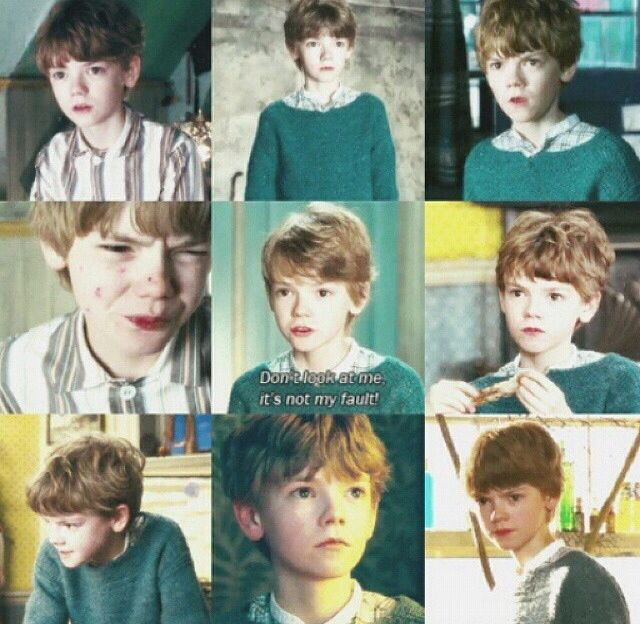 Thomas Sangster aged 15 in Nanny McPhee as Simon Brown. <<<No. He's, like, 7.