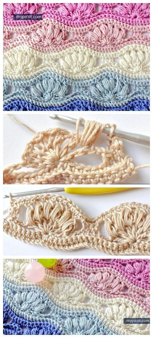 Puff Shell Stitch Free Crochet Pattern