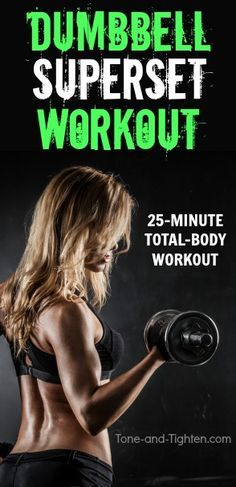 dumbbell superset workout at home
