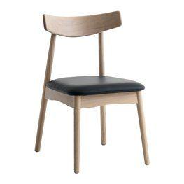 Krzesło JUNGHOLM jasny dąb/czarne