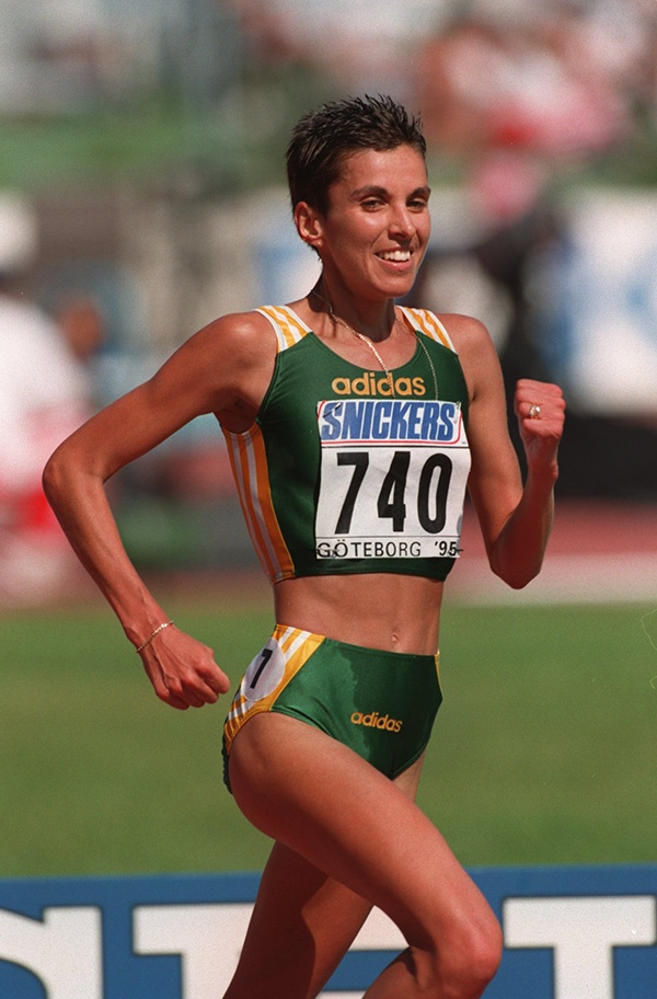 Elana Meyer in action during the Womens 10000m Heats at the 1995 Iaaf World Athletics Championships.