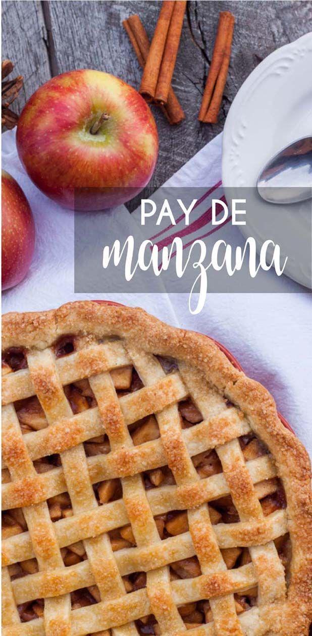 Receta fácil para preparar un Pay de Manzana con una costra crocante y un relleno especiado que intensifica el sabor de la manzana. El pay está espolvoreado con azúcar Turbinado que le da un extra crunch delicioso. • The Sweet Molcajete #thesweetmolcajete #paydemanzana #manzana #receta #pay #applepie #recetafacil #reposteria Easy Desserts, Delicious Desserts, Dessert Recipes, Food N, Food And Drink, Homemade Cookies, Tart Recipes, Holiday Recipes, Sweet Treats