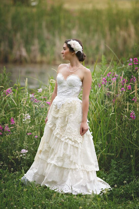 Lady Maria Christiana Vintage Lace Wedding Gown, Vintage ...