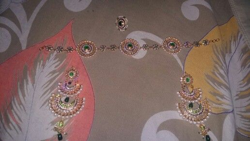 Rajputi jewellery... shisful rakhri and earings by kuldeep singh