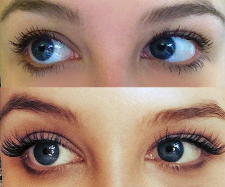 XLashes Wimpernverlängerung mit Einzelwimpern: Vorher - Nachher