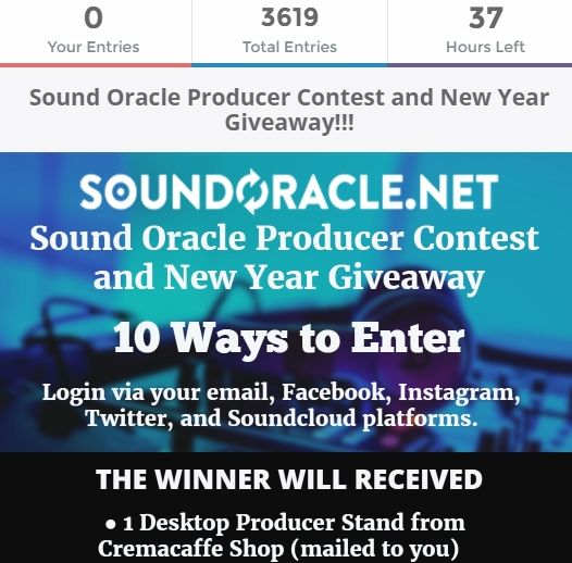 Only 1 days left for the #oracleproducerchallenge and 50% off sale. These #beat submissions have been crazy. Soundoracle.net