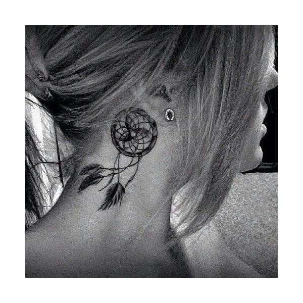 Behind ear tattoo Tattoos found on Polyvore