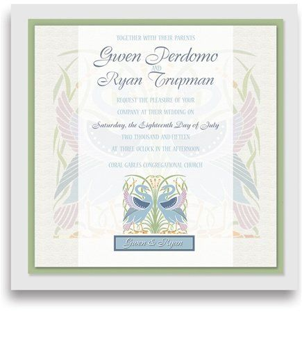 110 Square Wedding Invitations - Swan Garden by WeddingPaperMasters.com. $289.30. Now you can have it all! We have created, at incredible prices & outstanding quality, more than 300 gorgeous collections consisting of over 6000 beautiful pieces that are perfectly coordinated together to capture your vision without compromise. No more mixing and matching or having to compromise your look. We can provide you with one piece or an entire collection in a one stop shopping experien...