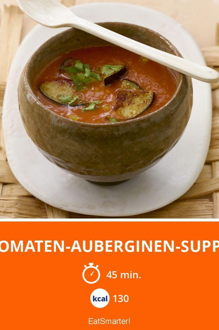 Tomaten-Auberginen-Suppe - smarter - Kalorien: 130 Kcal - Zeit: 45 Min. | eatsmarter.de