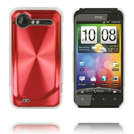 Alumiini Suojus (Punainen) HTC Incredible S Suojakuori
