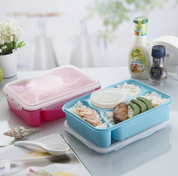Купить товарГорячая 4 + 1 коробка обеда полностью герметичный контейнер еды 4 Compartments бенто коробка супа с пластмассовый совок Pratos микроволновая еда инструменты в категории Столовые сервизына AliExpress.             Стиль: Япония стиль                             Материал: пластик                                Характерист