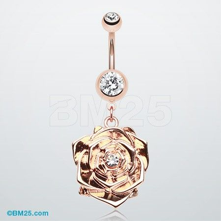 Rose Gold Plated Blossom Belly Button Piercing