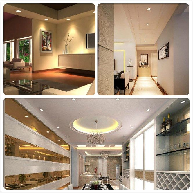 Dimmable Led Panel Down Light Recessed Ceiling Light Bulb 7w 240v