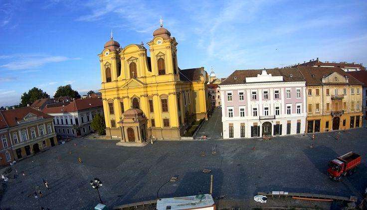 EXCLUSIV! Cum arată azi PIAȚA UNIRII din Timișoara – video