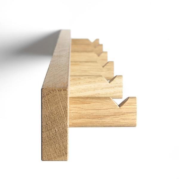 Knagerække / coatrack made from natural oak