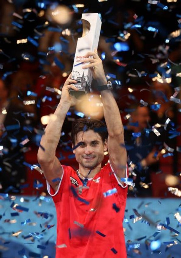David Ferrer Of Spain Holds The Trophy After Winning The Final Match Against Steve Johnson Of The United States At The Tennis Tennis Players Tennis Tournaments