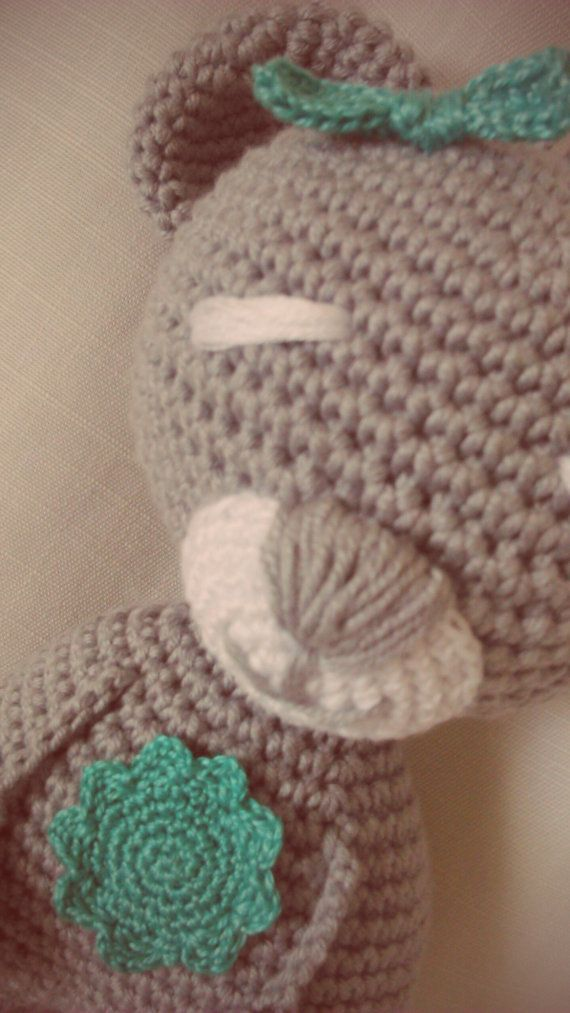 Lucky Teddy Bear by CrochetByJADEGoods on Etsy
