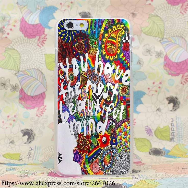 Trippy Tie Dye Peace sign Alien Hard Transparent Cover Case for iPhone 7 7 Plus 6 6S Plus 5 5S SE 5C 4 4S-in Phone Bags & Cases from Phones & Telecommunications on Aliexpress.com   Alibaba Group