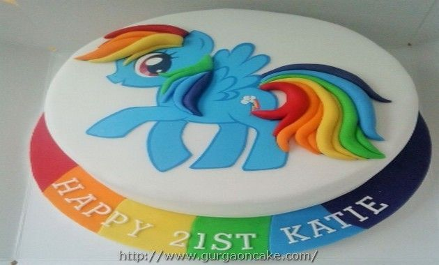Rainbow Dash Birthday Cakes Picture