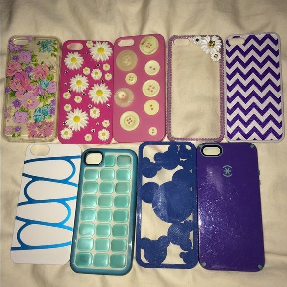 iPhone 5/s & 5/c Case Lot All of the cases are 5/s except the one pictured separately which is a 5/c. All are $5 ( or best offer ) each. Or buy the whole lot, or pick and choose multiple! offer me anything!  Accessories Phone Cases