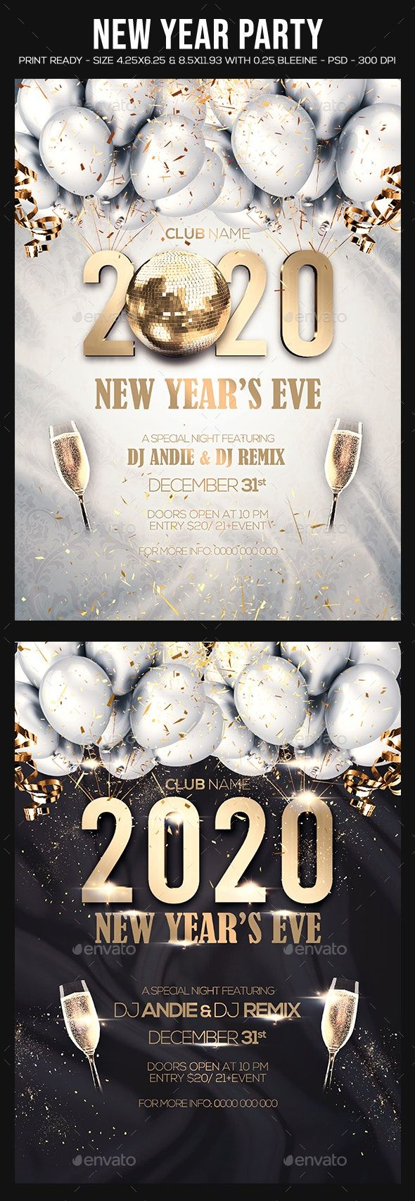 2021 New Year Party Flyer | New year's eve flyer, Party flyer, New years eve pictures