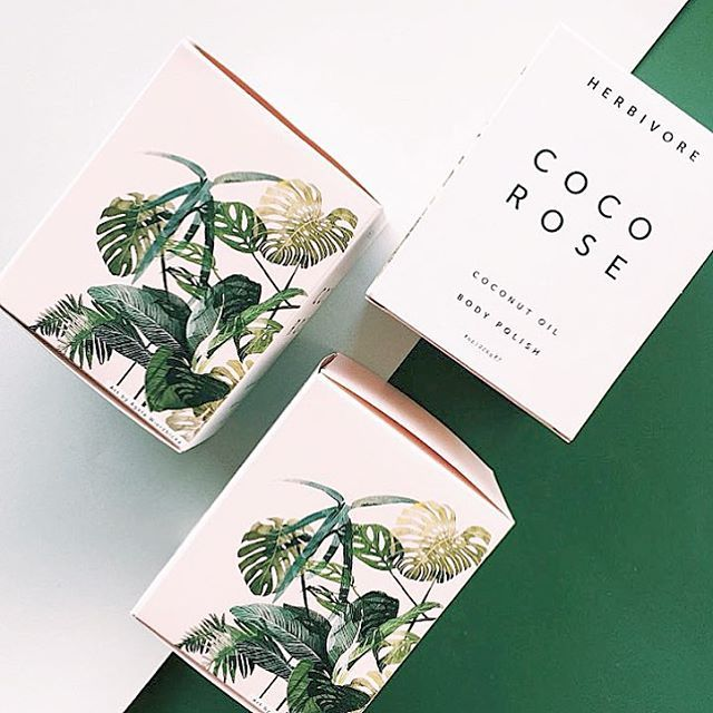 coco rose body polish and its new box design with art work by @agata_wierzbicka by @shoppigment #cocorose #naturalskincare #greenbeauty