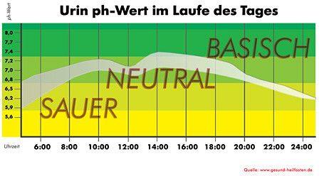 Übersicht Urin ph-Wert im Laufe des Tages