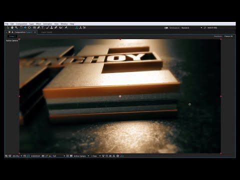 Exclusive After Effects Tutorial | 3D Gold Logo Reveal | Element 3D - YouTube