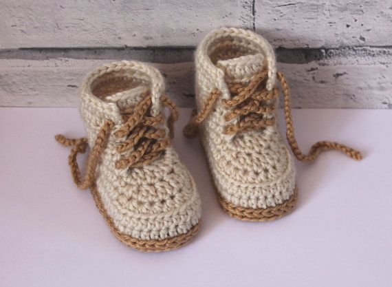 PATTERN ONLY - NOT FINISHED SHOES  This Combat boot pattern is a super modern crochet design, and will be adored as a gift or as a feature item in your shop!  Instructions included for sizes 0-3mos (3.5) 3-6mos (4) 6-12mos (4.5) 12-18mos (5.1) You will need a 3.5mm (E) and a 4mm (G/6) crochet hook (or size needed to obtain gauge). You will also need worsted weight yarn (1.7 oz), with a small amount of contrast color in worsted weight.  All of my patterns are written in standard US terms!...