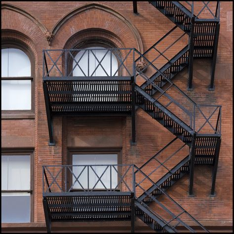 Fire Escape - Flatiron, Gooderham Building