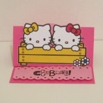 Hello Kitty multifunction stand for picture / menu / theme card http://www.luvavenue.com
