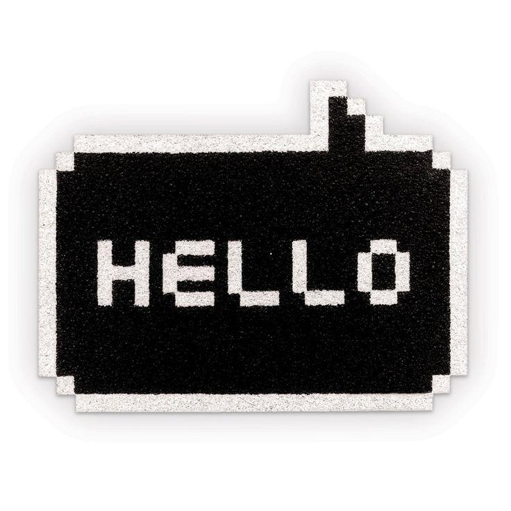 Amazon | Pixel Hello Fußmatte/Schmutzmatte | 34,25 €