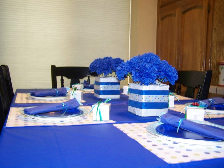 Royal Blue Baby Shower Baby Shower Ideas Pinterest