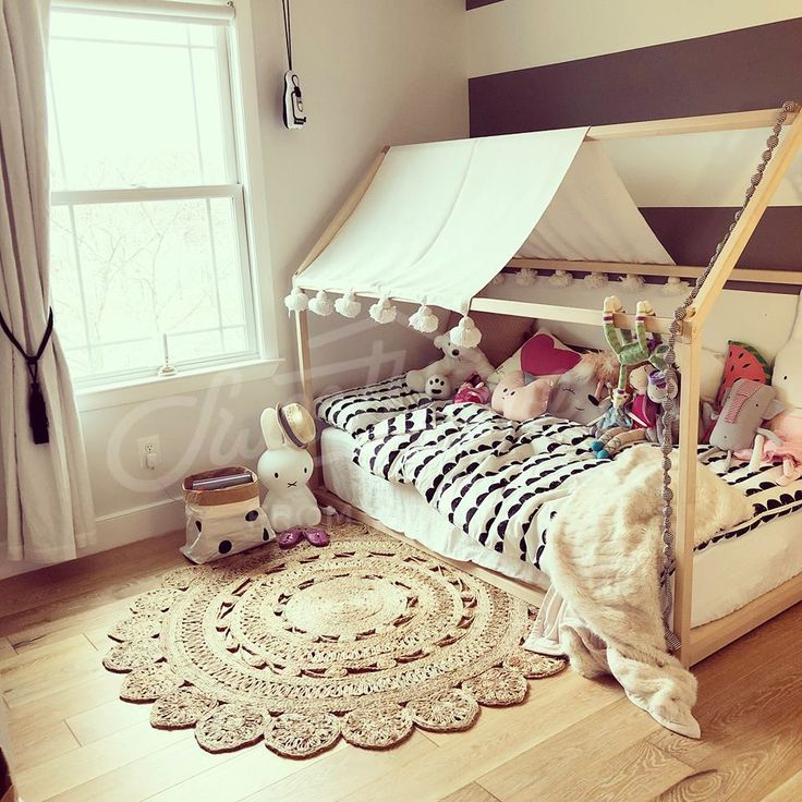 Beige child room, marocan style child room, Toddler bed, house bed, tent bed, children bed, wooden house, wood house, wood nursery, kids teepee bed, wood bed frame, wood house bed