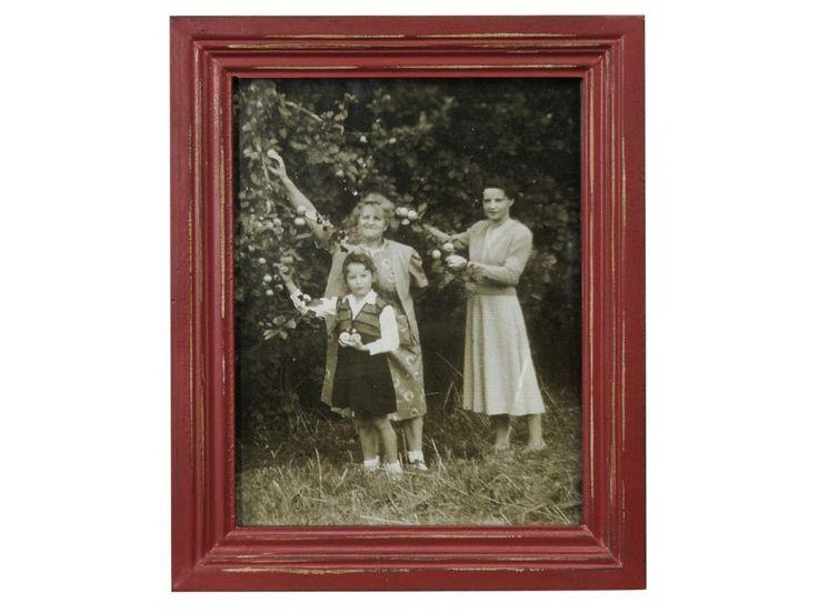 Rámeček na fotky z kolekce Memoires, červená barva s patinou