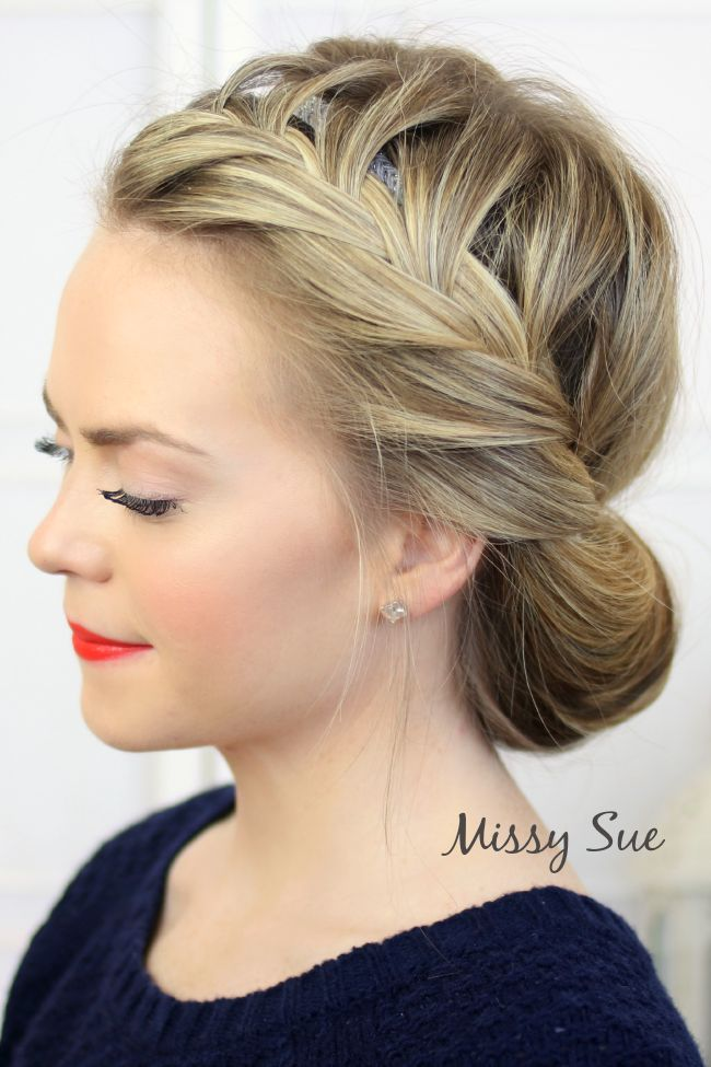 Tuck and Cover French Braid, Video Tutorial | MissySue.com