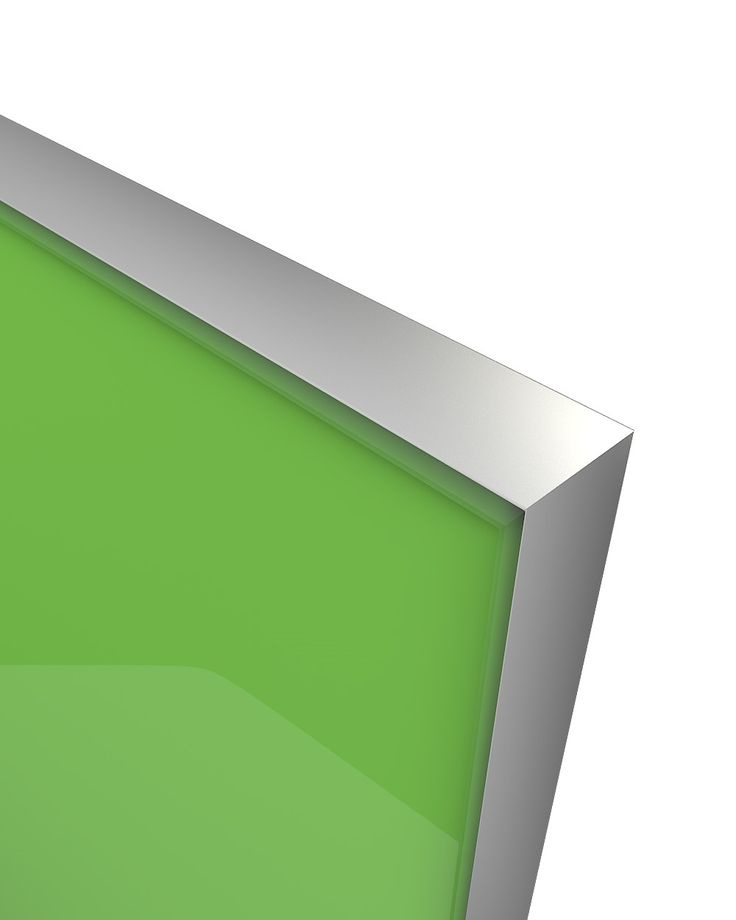 Glass Door Z-18,aluminum frame C-0, glass color Ref 1164 The Z-18 design belongs to the group of new models of glass doors. Made from an anodized aluminum frame where a colored glass is welded externally and is elegantly sharpened. Designed in parallel with the Z-21 model creating an innovative, entirely minimalistic combination. Its look , gives the compositions used, the image of an entirely glass made construction without any optical influence by other materials.