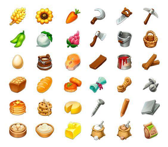 Items for Farm by Anastasia Chechneva, via Behance: