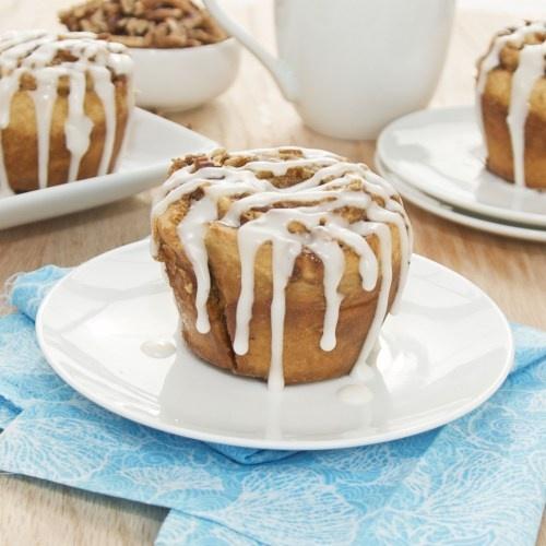 Cinnamon Roll Muffins (no yeast!)