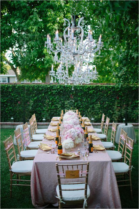 pink and gold shower via Weddingchicks.com