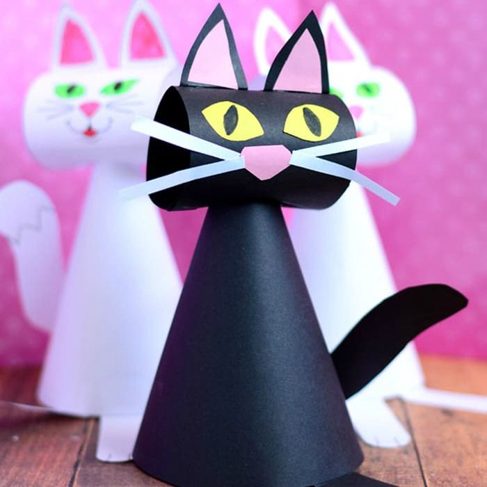 25 Curiously Cute Cat Crafts For Youngsters