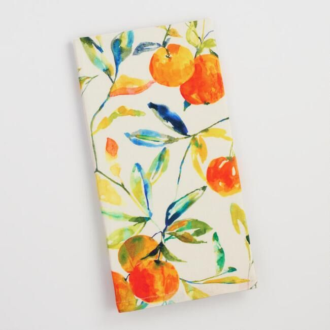 Citrus Fruits Print Kitchen Towel Kitchen Towels Fruit Print