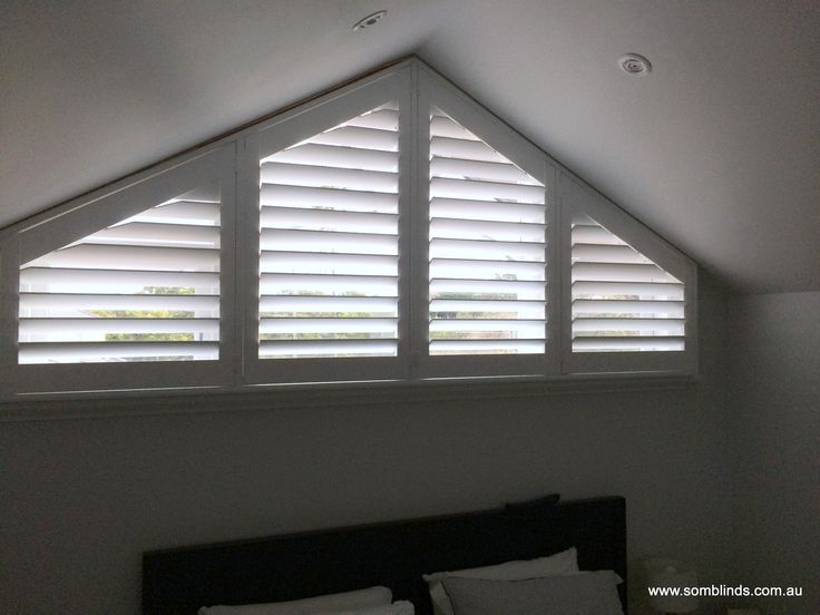 Plantation Shutters Made To Suit Triangular Window By Som
