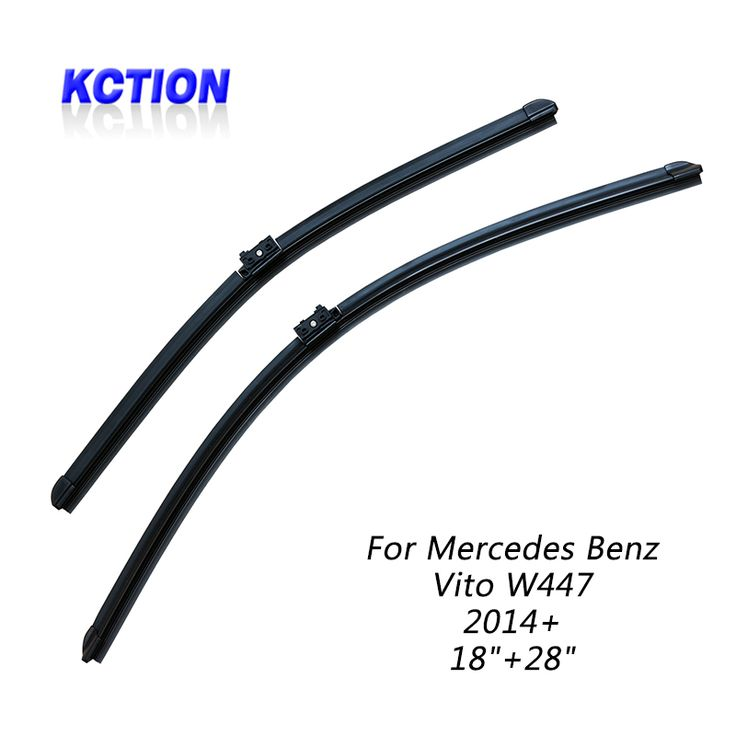 """KCTION wiper blade in Car Windscreen Wipers For Mercedes Benz Vito W447,(2014+),18""""+28"""",Natural rubber #Affiliate"""