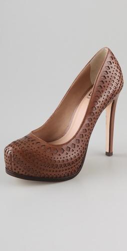 so cute!: Cute Heels, Fall Shoes, Platform Pumps, Color Pumps, Pumps Shoes, Nice Color, Brown Shoes, Fall Heels, Cut Platform