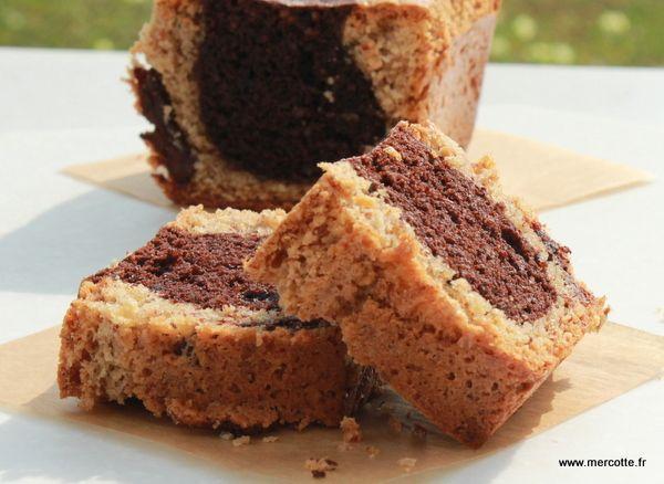 Cake noisettine et chocolat marbré - Mercotte