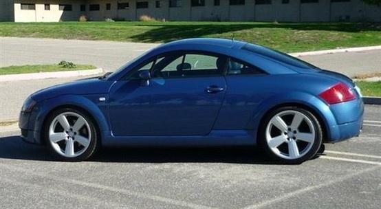 2000 Audi TT Coupe - Denim Blue, w/Black and Blue Interior