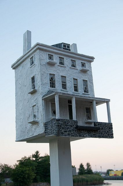 Birdhouse on the riverfront, Wilmington Delaware- made by Thomas F Burke