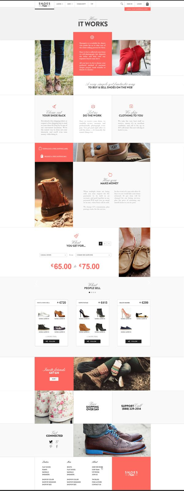 Web | Shoesprive Concept by Thomas Le Corre, via Behance